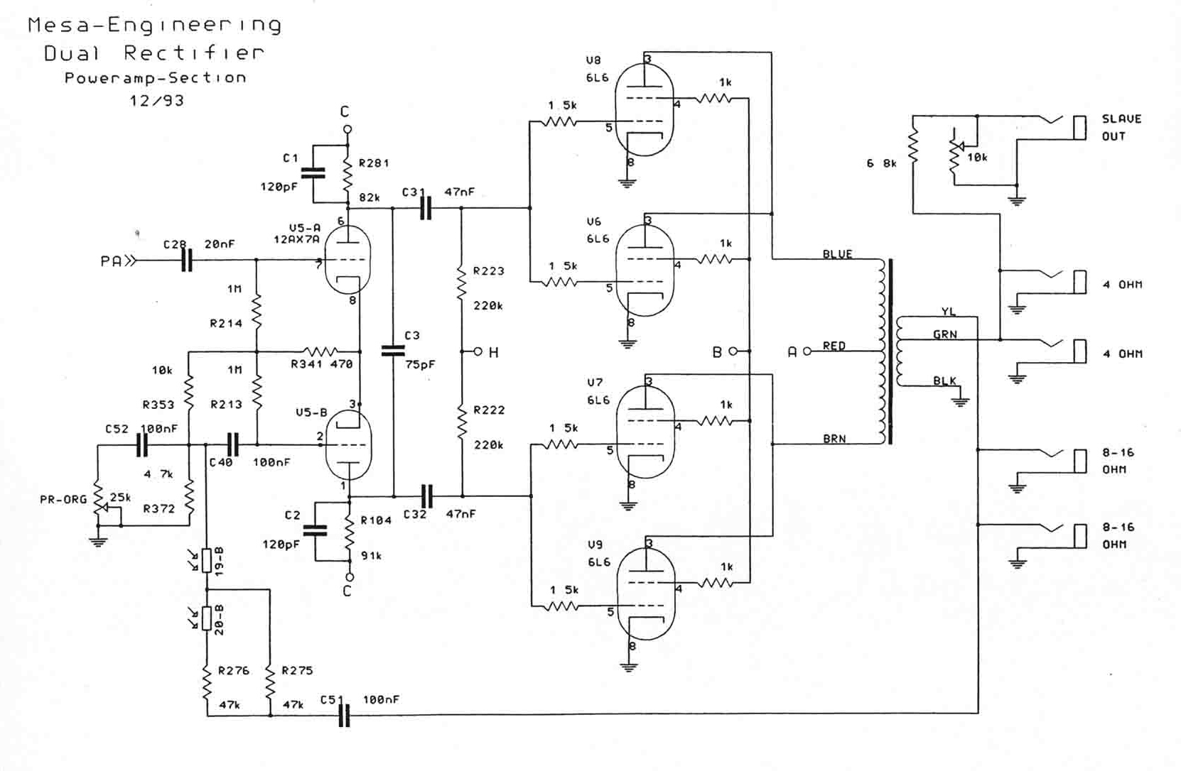 Mesa Boogie Dual Rectifier Schematic Trusted Wiring Diagram Many Parts Of Solo Head Guitar Schematics Illustration U2022 Egnater Tweaker