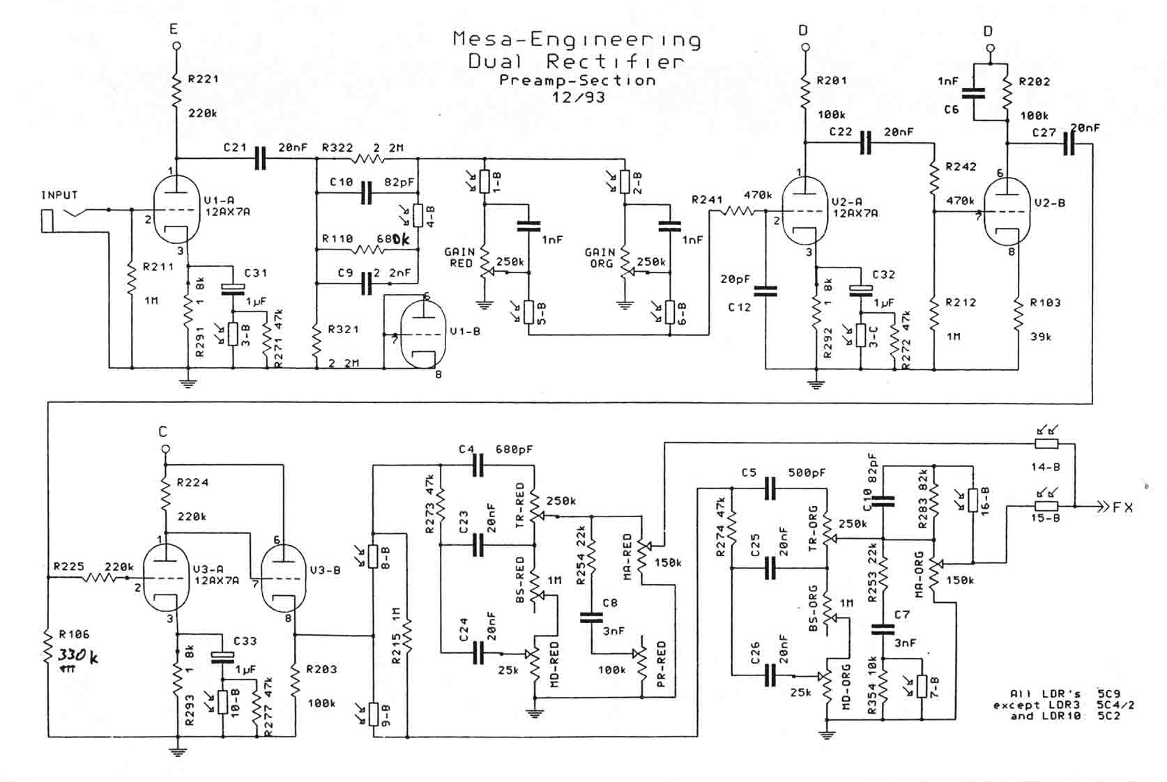 Mesa Tube Preamp Schematic Block And Diagrams Tone Controls Guitar Rectifier Wire Center U2022 Rh 107 191 48 154 Bass Circuit